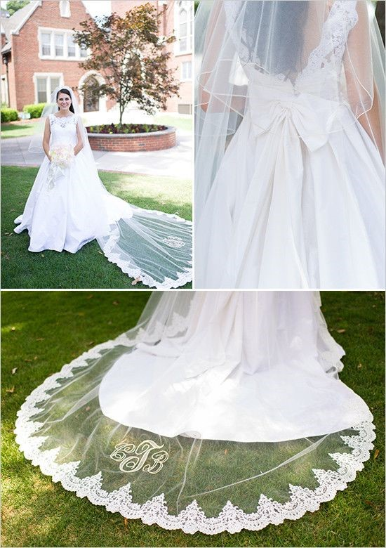 Monogrammed Veil